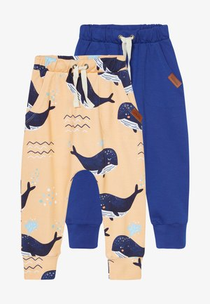 LITTLE WHALE BAGGY 2 PACK - Stoffhose - orange/dark blue