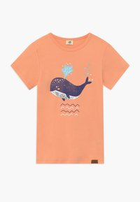 Walkiddy - LITTLE WHALE PLACEMENT 2 PACK - T-shirt con stampa - orange/green - 2