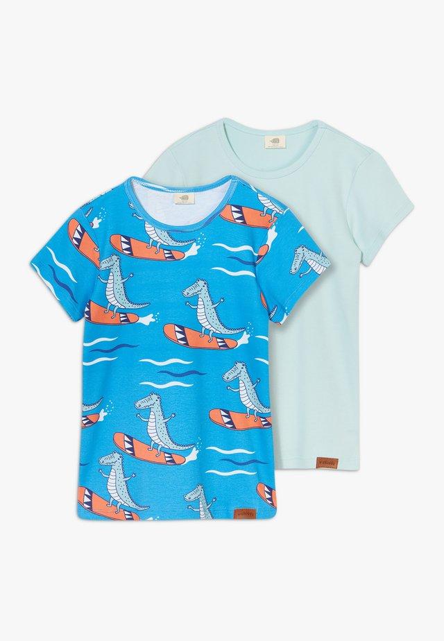 CROCODILE SURFING 2 PACK - T-shirt med print - blue/green