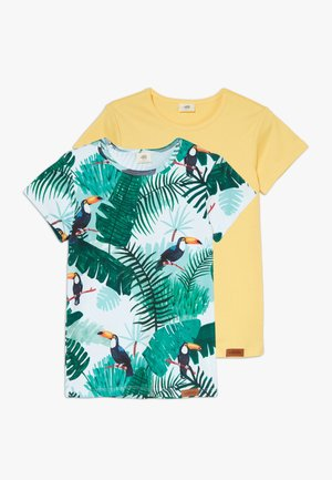 TROPICAL TUCANS 2 PACK - Print T-shirt - green/yellow