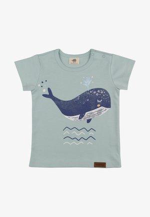LITTLE WHALES - Print T-shirt - grey