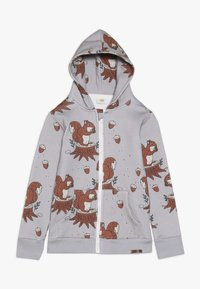 Walkiddy - veste en sweat zippée - light grey - 0