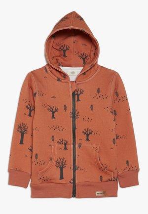 veste en sweat zippée - orange