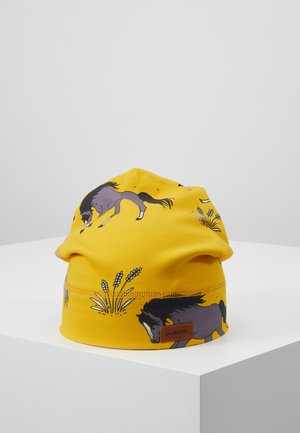 Beanie - dark yellow