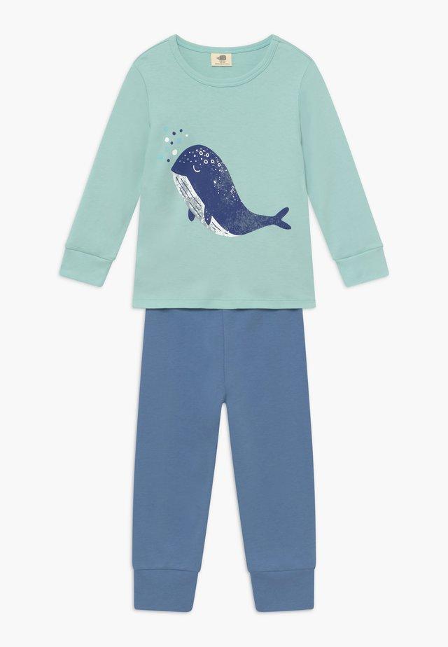 LITTLE WHALE - Pyžamová sada - blue/mint