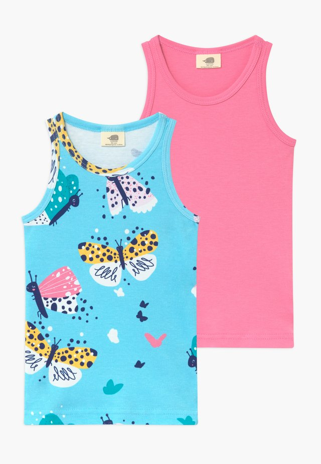 FUNNY BUTTERFLIES 2 PACK  - Unterhemd/-shirt - turquoise