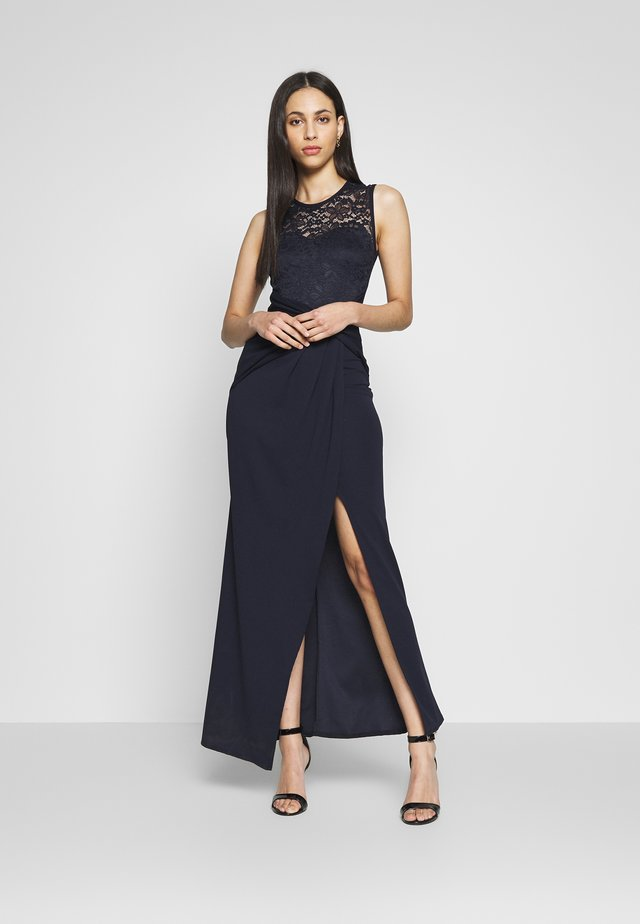 TWIST FRONT MAXI DRESS  - Vestito lungo - navy