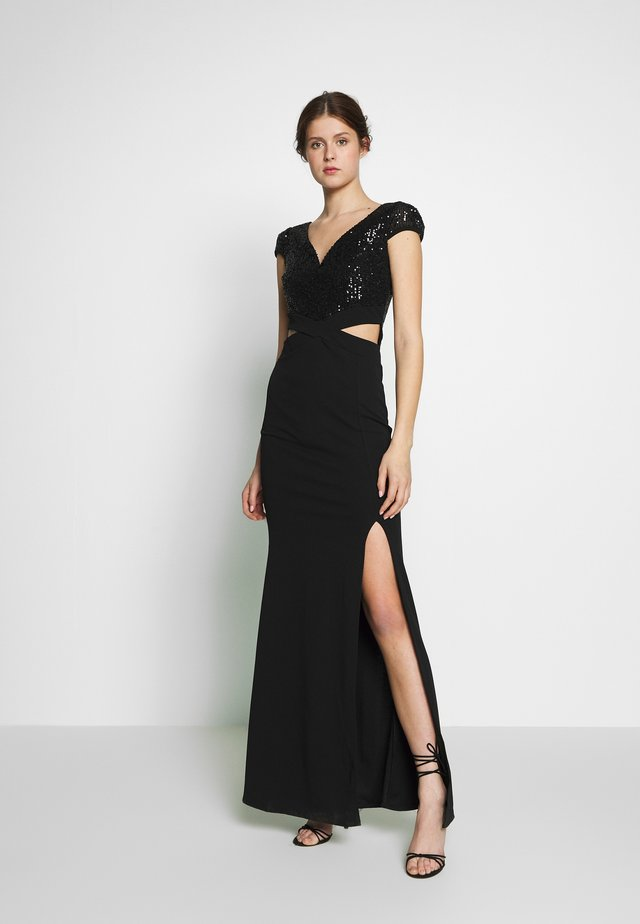 CUT OUT WAIST DRESS - Cocktailklänning - black