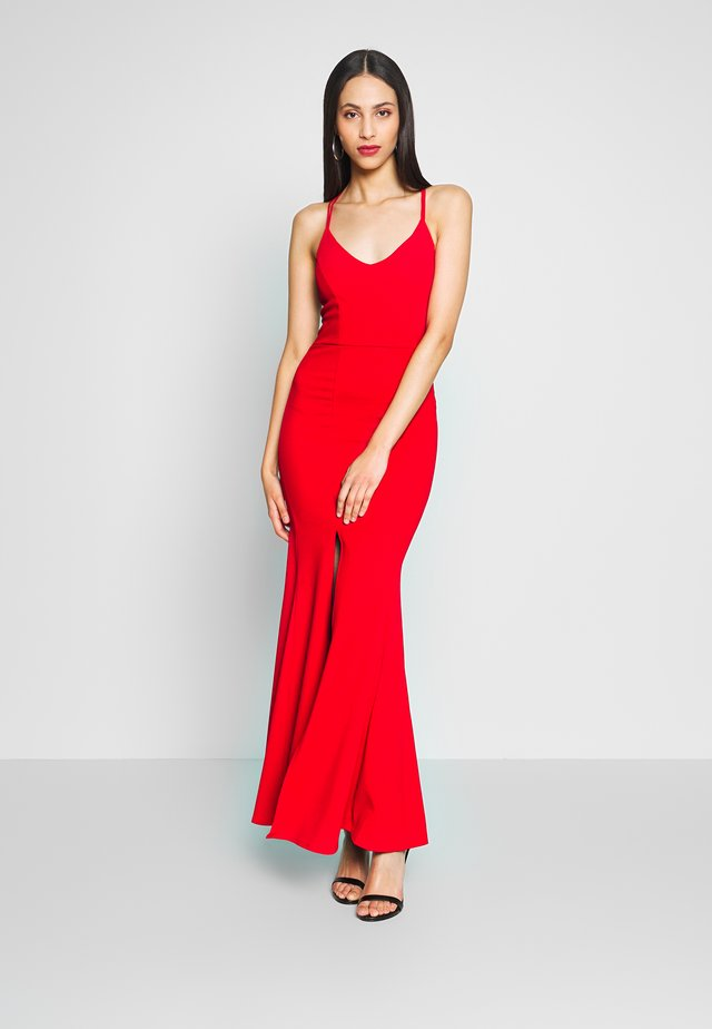 FISHTAIL DRESS - Abito da sera - red