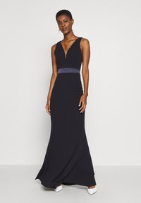 WAL G TALL - V NECK RUBAN MAXI DRESS - Vestido de fiesta - navy