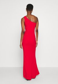 WAL G TALL - ONE SHOULDER RUCHED MAXI DRESS - Vestido de fiesta - red - 2