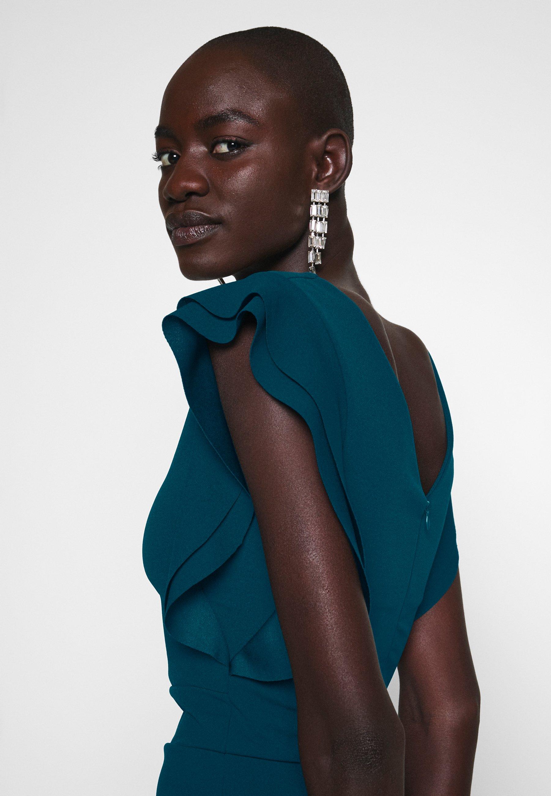 Wal G Tall Frill Sleeve Midi Dress - Fodralklänning Teal