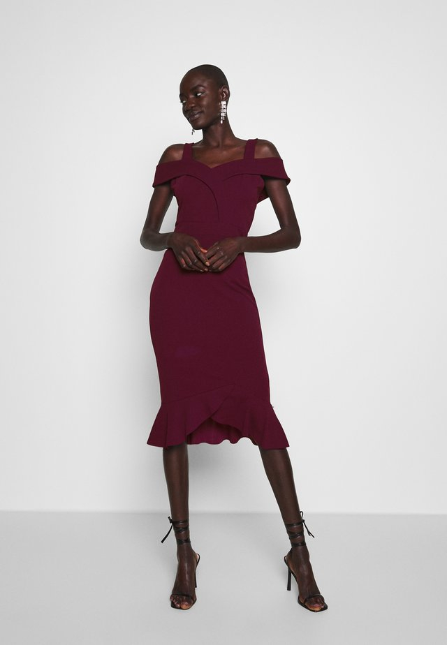 TALL BARDOT FISHTAIL DRESS - Korte jurk - plum