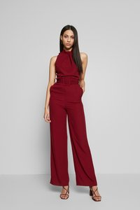 WAL G TALL - HIGH NECK BELTED - Tuta jumpsuit - burgundy - 1