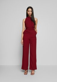 WAL G TALL - HIGH NECK BELTED - Tuta jumpsuit - burgundy - 0