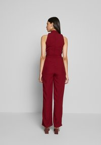 WAL G TALL - HIGH NECK BELTED - Tuta jumpsuit - burgundy - 2