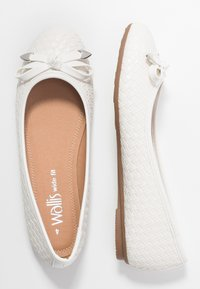 Wallis Wide Fit - WEAVE - Ballet pumps - white - 3