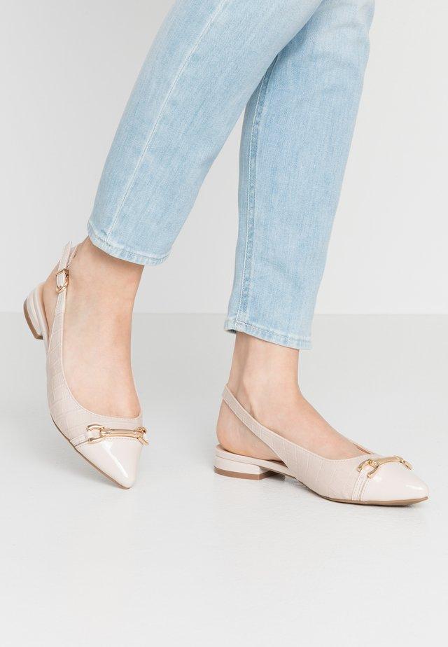 WILMA - Slingback ballet pumps - beige