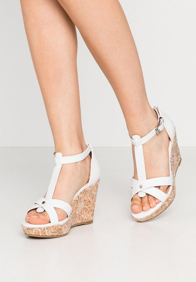 WHIMSEY - High heeled sandals - white