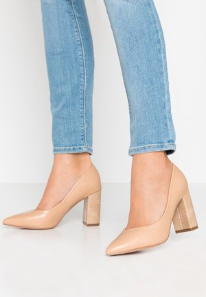 WIDE FIT WILDROSE - High Heel Pumps - natural
