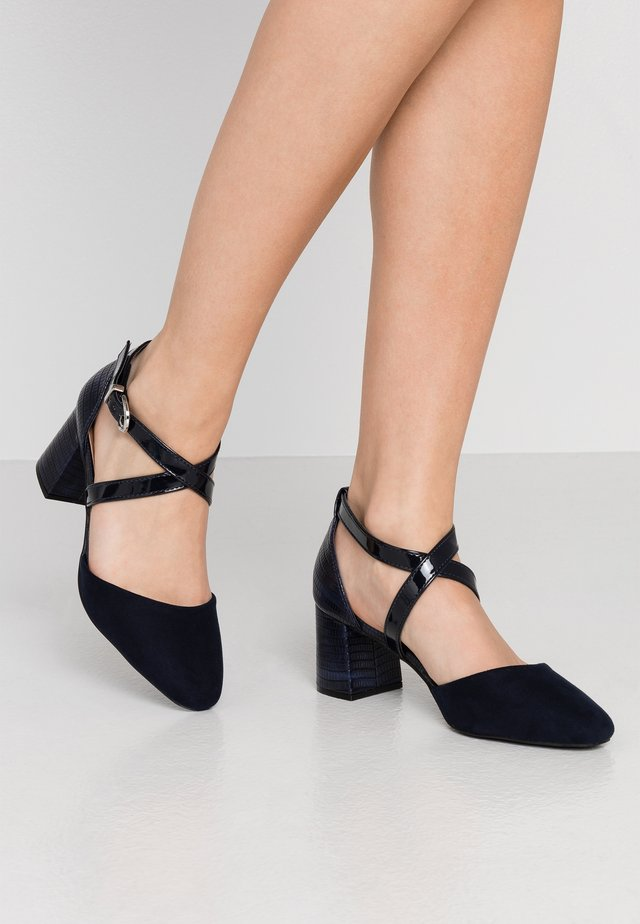 WIDE FIT WISTERIA - Classic heels - navy