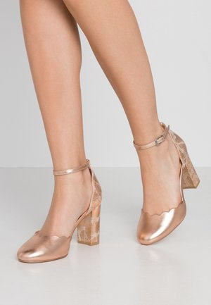 WIDE FIT WHISPER - Hoge hakken - rose gold metallic