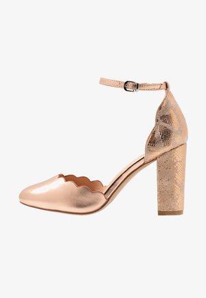 WIDE FIT WHISPER - Høye hæler - rose gold metallic