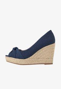 Wallis Wide Fit - WHIRL - Peeptoe heels - navy - 1