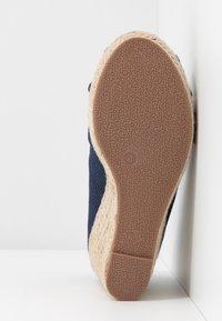 Wallis Wide Fit - WHIRL - Peeptoe heels - navy - 6