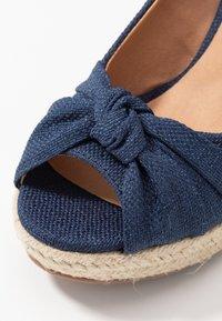Wallis Wide Fit - WHIRL - Peeptoe heels - navy - 2