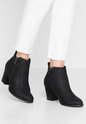 WIDE FIT WENDIE - Ankelstøvler - black