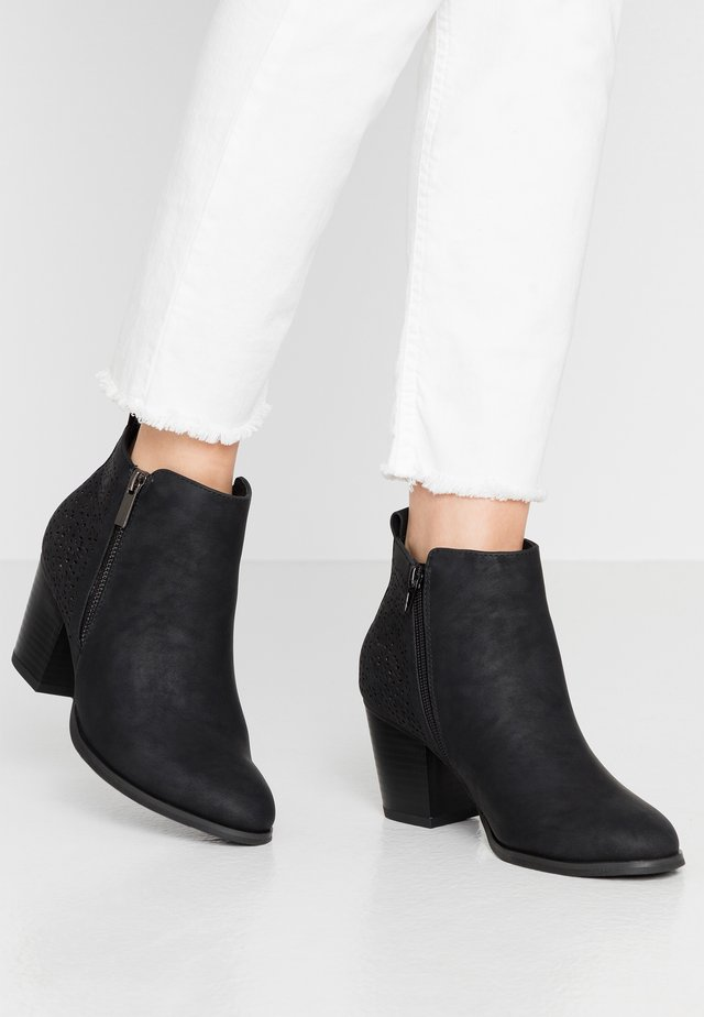 WIDE FIT WENDIE - Ankle boots - black