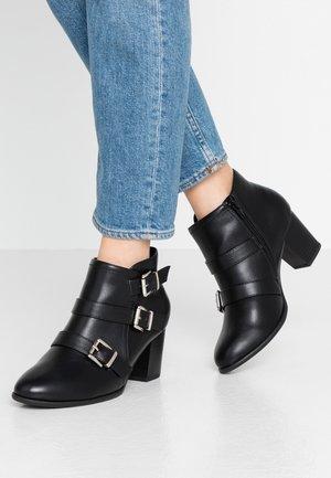 WIDE FIT WREN - Kotníková obuv - black