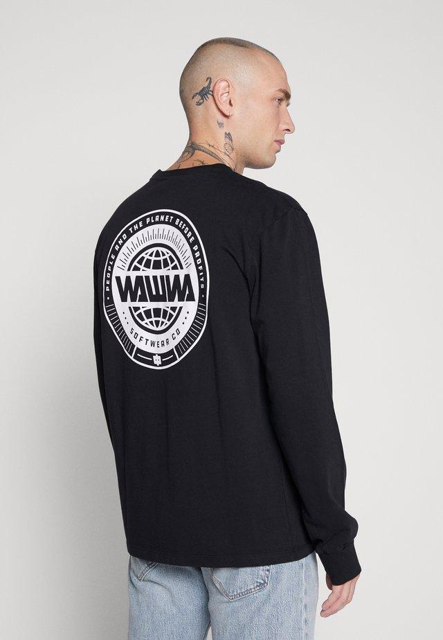 UNISEX LOGO LONGSLEEVE - Long sleeved top - black