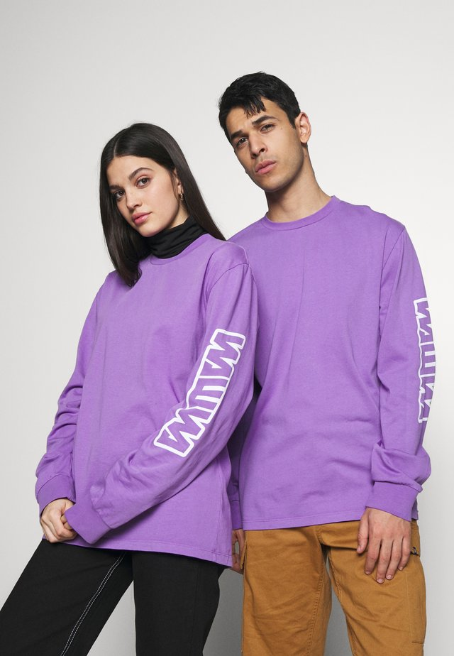 UNISEX SLEEVE LOGO LONG - Langarmshirt - purple