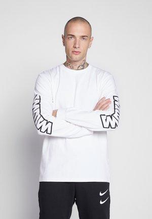 UNISEX SLEEVE LOGO LONG SLEEVE - T-shirt con stampa - white