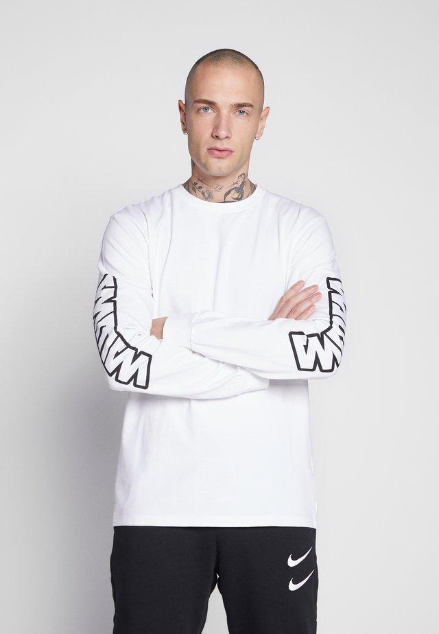 UNISEX SLEEVE LOGO LONG SLEEVE - Long sleeved top - white