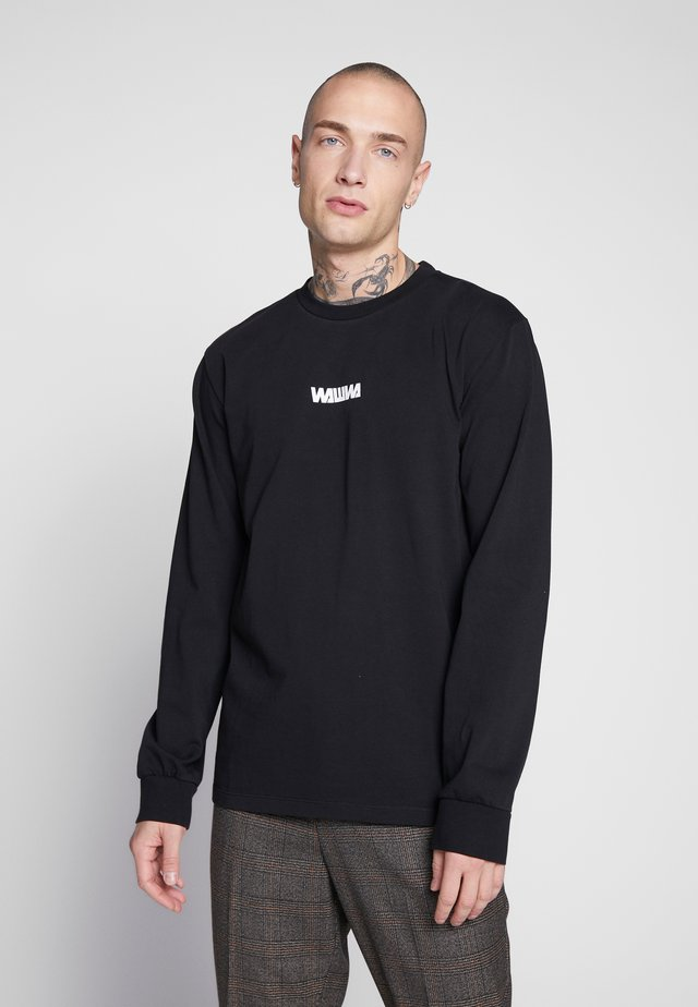 WAWWA UNISEX BASIC LOGO LONGSLEEVE - Long sleeved top - black