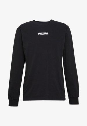 WAWWA UNISEX BASIC LOGO LONGSLEEVE - Maglietta a manica lunga - black
