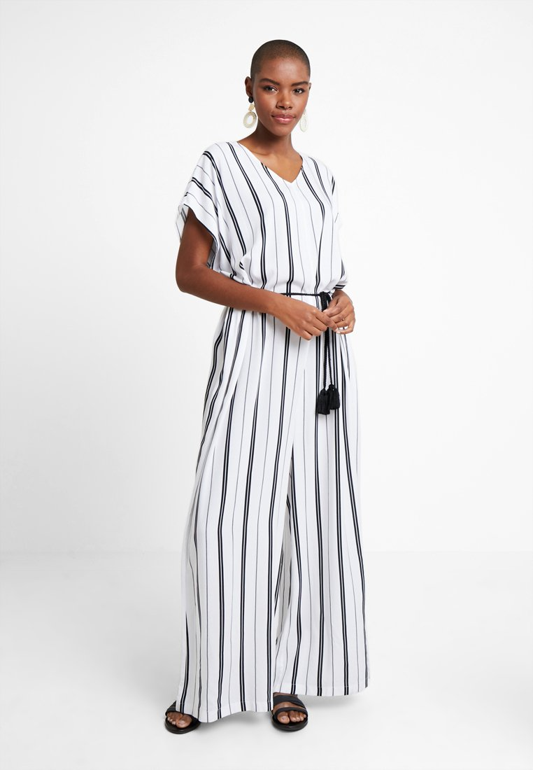 watercult - SEASIDE STRIPE JUMPSUIT - Strandaccessoire - white/black