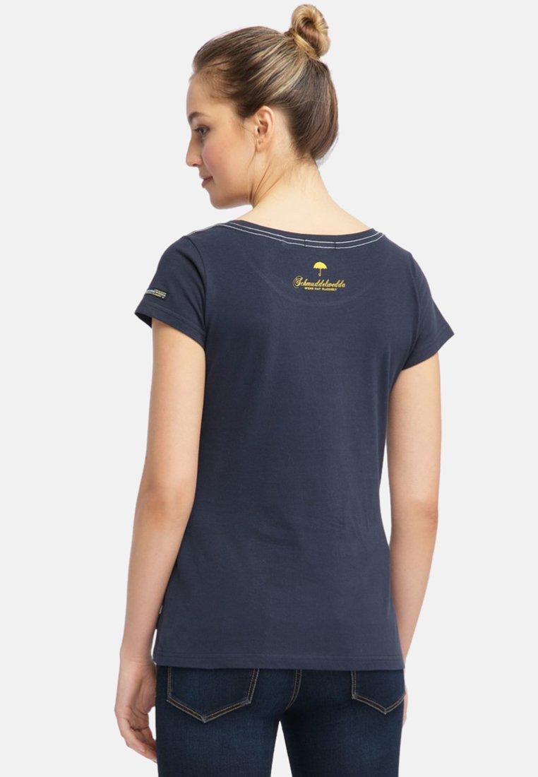 Blue T Con Dark Schmuddelwedda Stampa shirt ZiOTXuPk