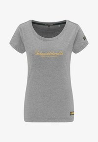 Schmuddelwedda - Camiseta estampada - grey melange - 4