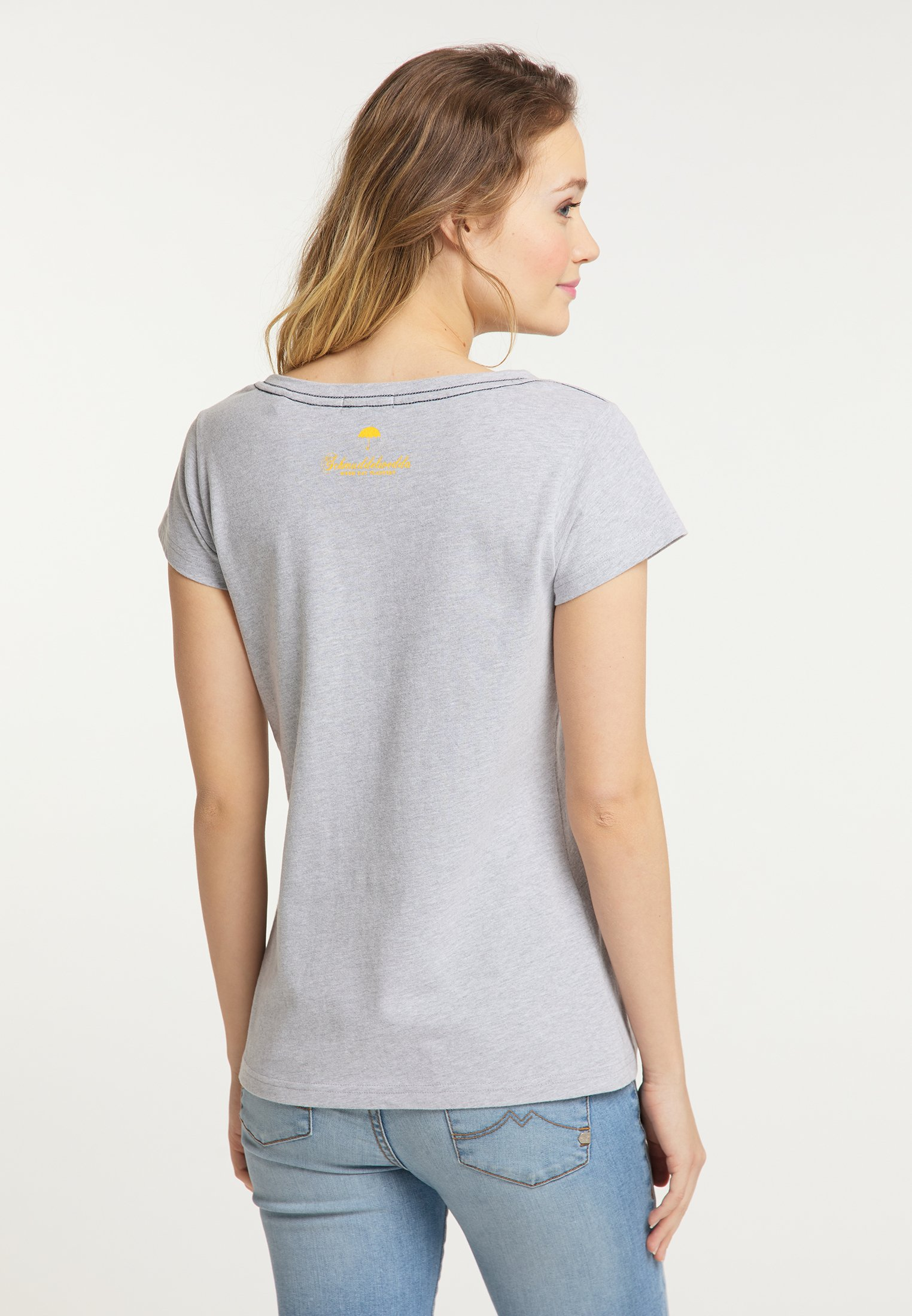 Schmuddelwedda T-shirt z nadrukiem - light grey melange