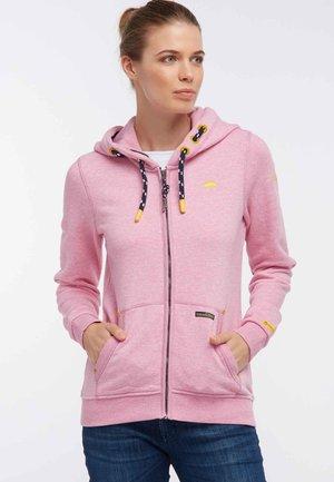 Zip-up hoodie - mottled pink