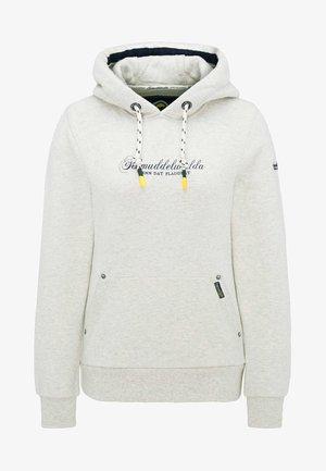 Hoodie - wool white melange