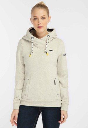 Hoodie - white melange