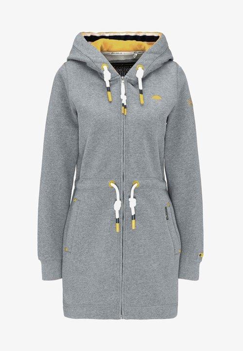 Schmuddelwedda Bluza rozpinana - grey melange Odzież Damska PDLU-MG6 sprzedaż