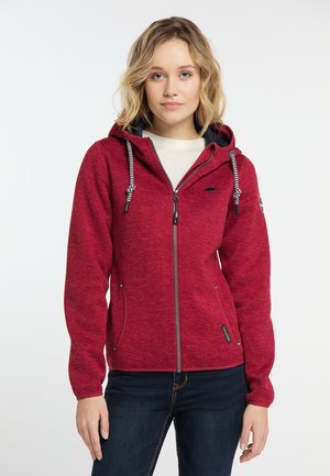 Zip-up hoodie - mottled red