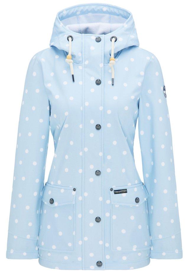 Parka - pastel blue dots