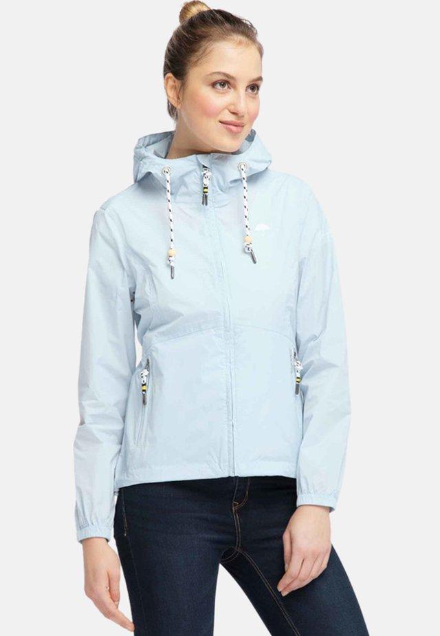 Waterproof jacket - pastel blue